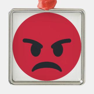 Ornamento De Metal Angry Emoji