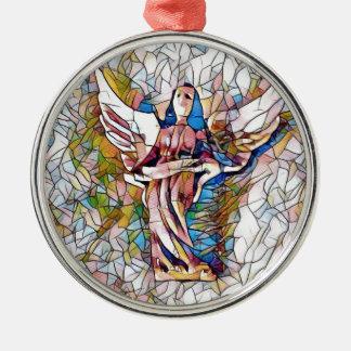 Ornamento De Metal Anjo-da-guarda bonito do vitral