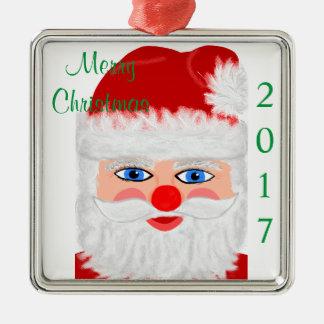Ornamento De Metal Ano de Papai Noel do Feliz Natal