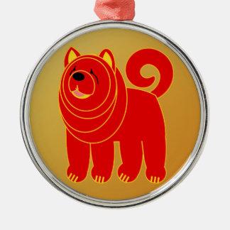 Ornamento De Metal Ano do cão