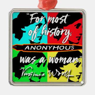 Ornamento De Metal Anónimas eram umas citações de Virgínia Woolf do ~