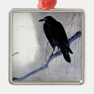 Ornamento De Metal Antiguidade preta do pássaro do corvo
