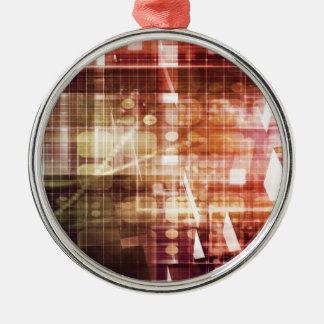 Ornamento De Metal Aparência de Digitas com arte de transferência da