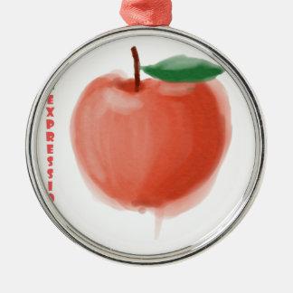 Ornamento De Metal Apple