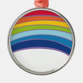 Ornamento De Metal arco-íris