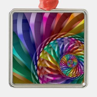 Ornamento De Metal Arco-íris metálico