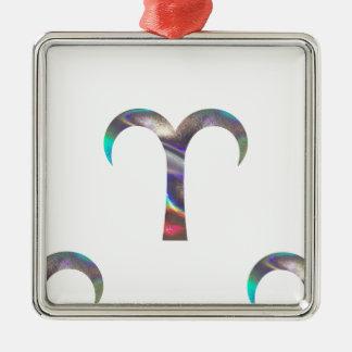 Ornamento De Metal Aries do holograma