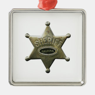 Ornamento De Metal Arizona do xerife