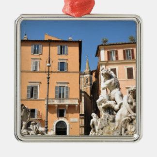 Ornamento De Metal Arquitetura italiana na praça Navona, Roma, Italia