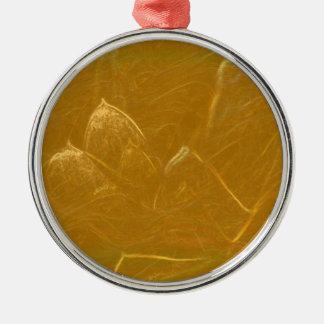 Ornamento De Metal Arte artística DOURADA da folha de ouro de LOTUS