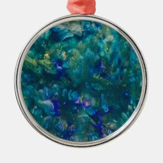 Ornamento De Metal Arte azul da pintura do Watercolour