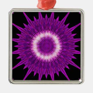 Ornamento De Metal Arte cor-de-rosa roxa do design do caleidoscópio