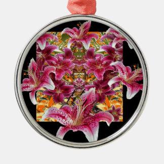 Ornamento De Metal arte floral dos lírios do gazer da estrela