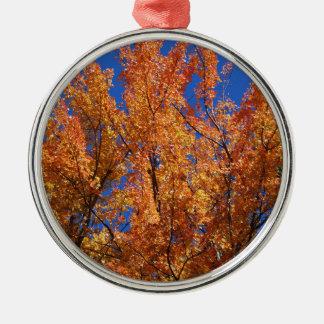 Ornamento De Metal Árvore alaranjada do fogo