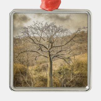 Ornamento De Metal Árvore de Ceiba na floresta Guayas Equador