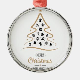 Ornamento De Metal Árvore de Natal elegante e original simples