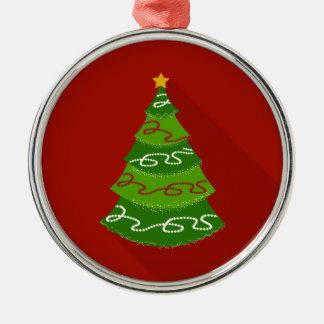 Ornamento De Metal Árvore de Natal lisa do design