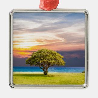 Ornamento De Metal Árvore pelo oceano