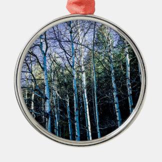 Ornamento De Metal Árvores de Aspen na queda