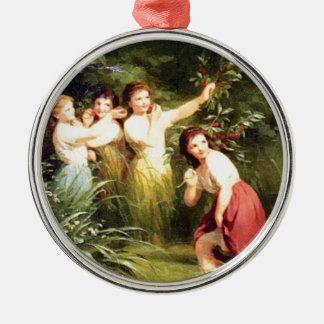 Ornamento De Metal as meninas escondem no pântano