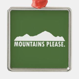 Ornamento De Metal As montanhas satisfazem