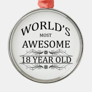 Ornamento De Metal As pessoas de 18 anos as mais impressionantes do