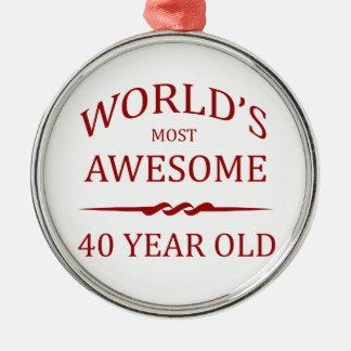 Ornamento De Metal As pessoas de 40 anos as mais impressionantes do