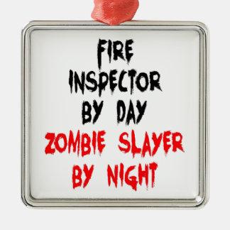 Ornamento De Metal Assassino do zombi do inspector do fogo