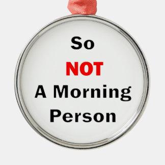 Ornamento De Metal Assim não um preto da pessoa da manhã