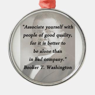 Ornamento De Metal Associado você mesmo - Booker T Washington