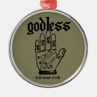 Ornamento De Metal Ateu Godless