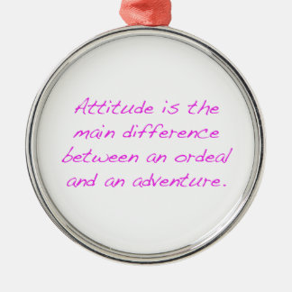 Ornamento De Metal Atitude - calvário ou aventura