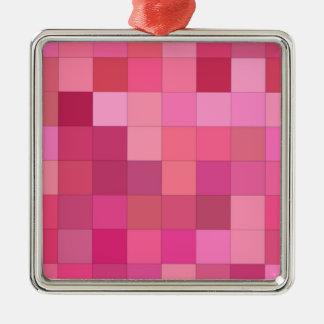 Ornamento De Metal Aumentaram os quadrados coloridos