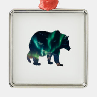 Ornamento De Metal Aurora boreal