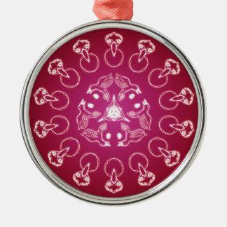 Ornamento De Metal Auto espiral pagão de Wicca do Pentagram do