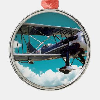 Ornamento De Metal Avião velho
