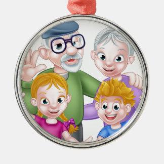 Ornamento De Metal Avós e netos dos desenhos animados