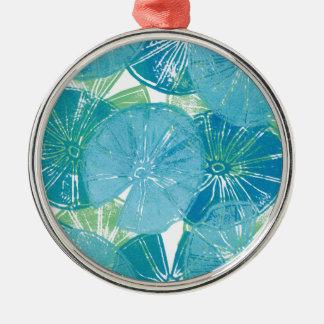 Ornamento De Metal Azuis da almofada de lírio