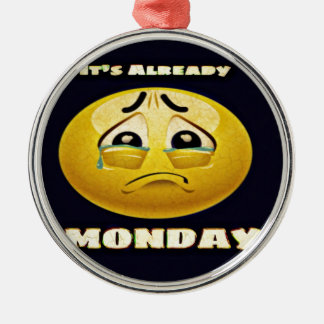 Ornamento De Metal Azuis de segunda-feira