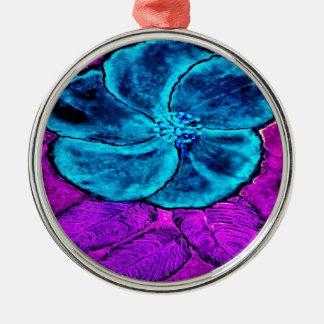Ornamento De Metal Azuis do hibiscus