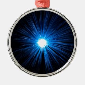 Ornamento De Metal Azul da velocidade da urdidura