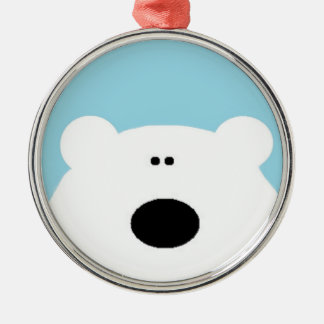 Ornamento De Metal Azul do urso polar