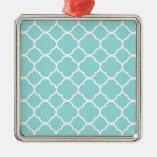 Ornamento De Metal Azul Quatrefoil de Shell do Limpet