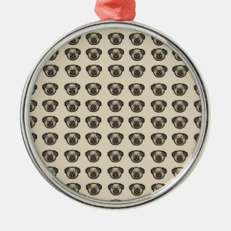 Ornamento De Metal azulejo BG do pug