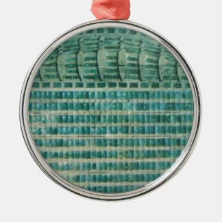 Ornamento De Metal azulejos azuis da cerceta