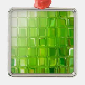 Ornamento De Metal Azulejos do vidro verde