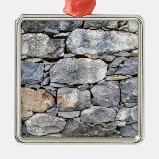 Ornamento De Metal Backgound de pedras naturais como a parede