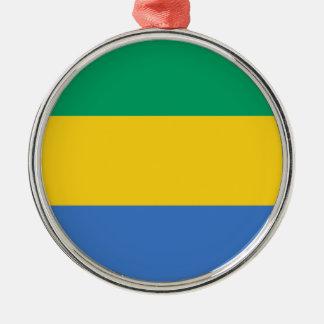 Ornamento De Metal Baixo custo! Bandeira de Gabon