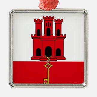 Ornamento De Metal Baixo custo! Bandeira de Gibraltar