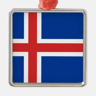 Ornamento De Metal Baixo custo! Bandeira de Islândia